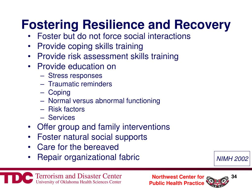 Fostering Resilience and Recovery