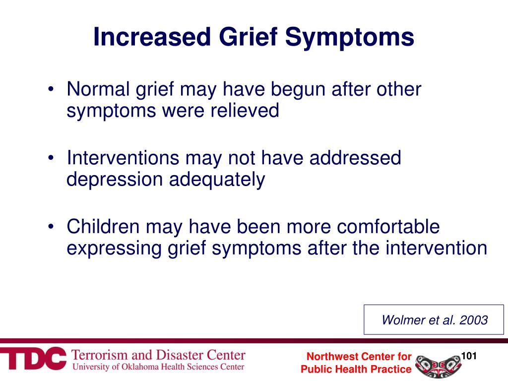 Increased Grief Symptoms
