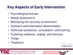 key aspects of early intervention