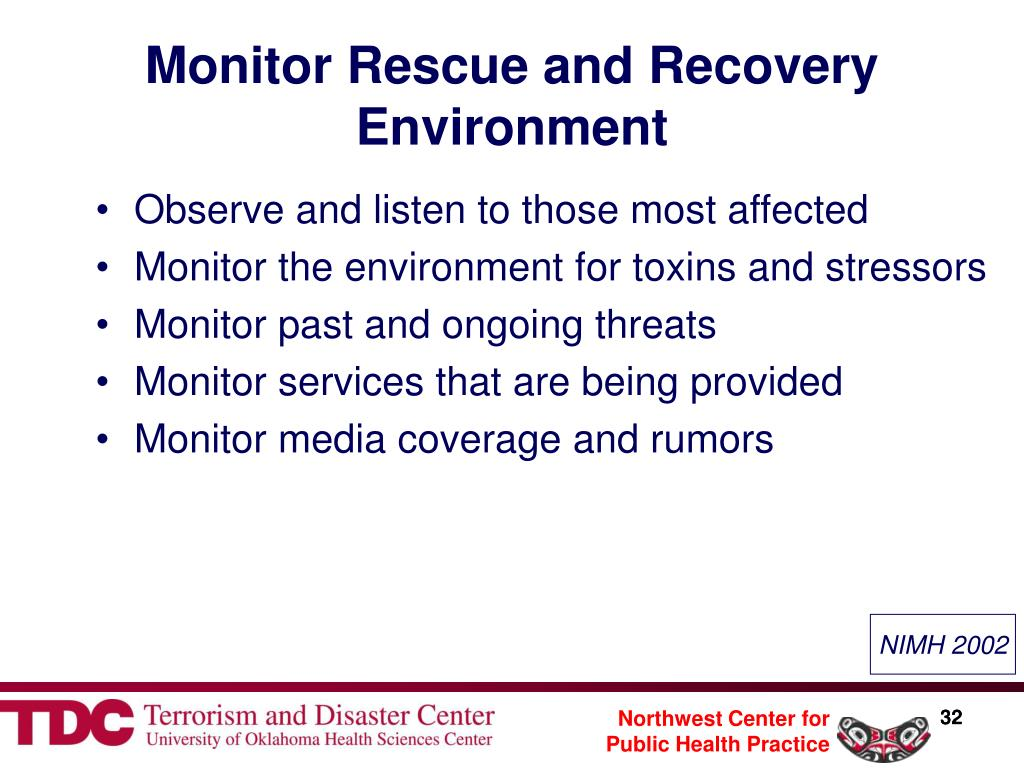Monitor Rescue and Recovery Environment
