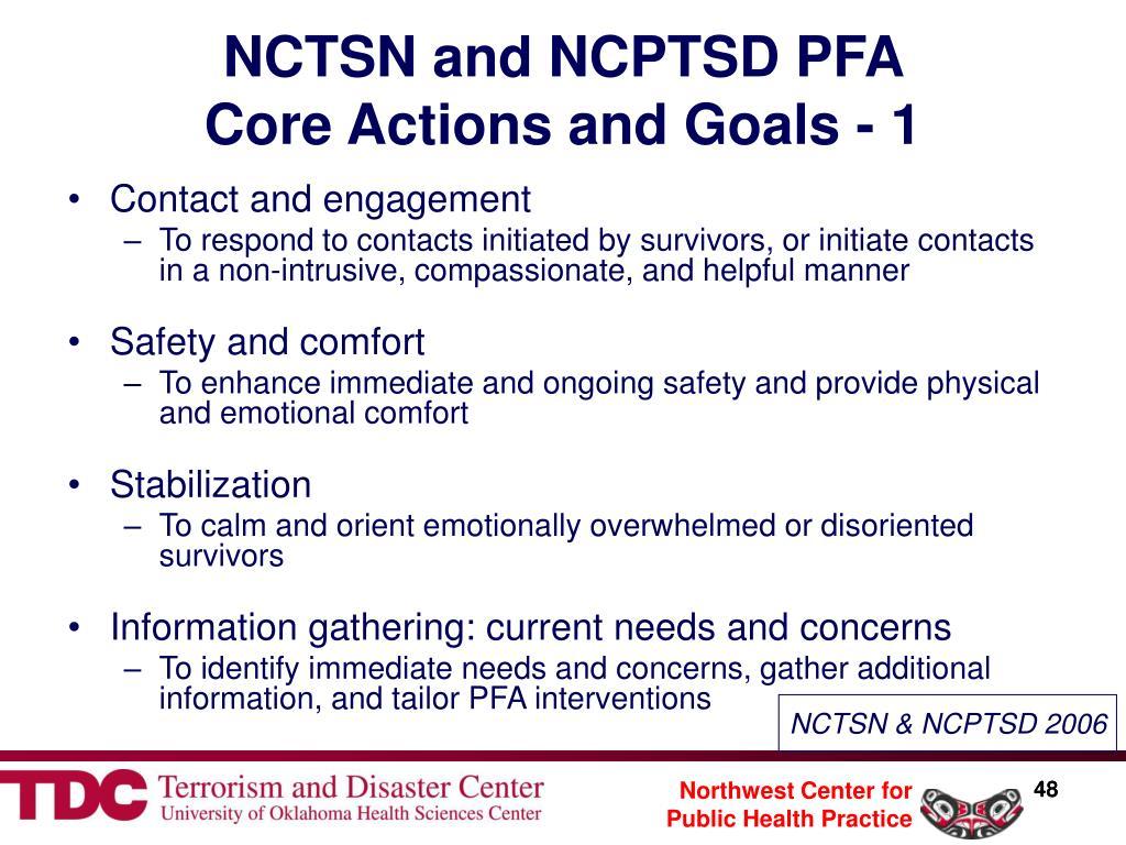 NCTSN and NCPTSD PFA