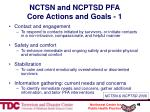 nctsn and ncptsd pfa core actions and goals 1