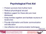 psychological first aid43