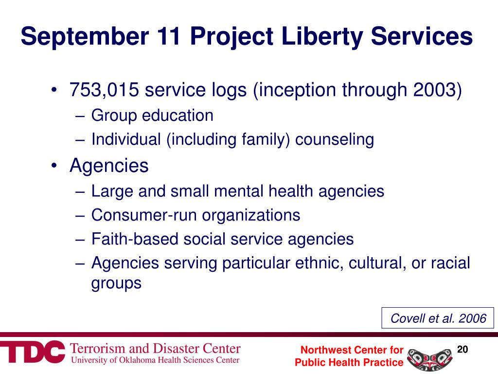 September 11 Project Liberty Services