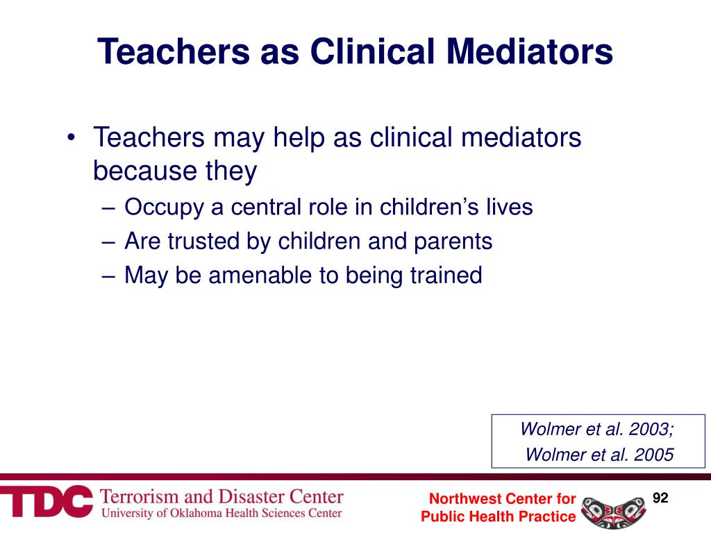 Teachers as Clinical Mediators