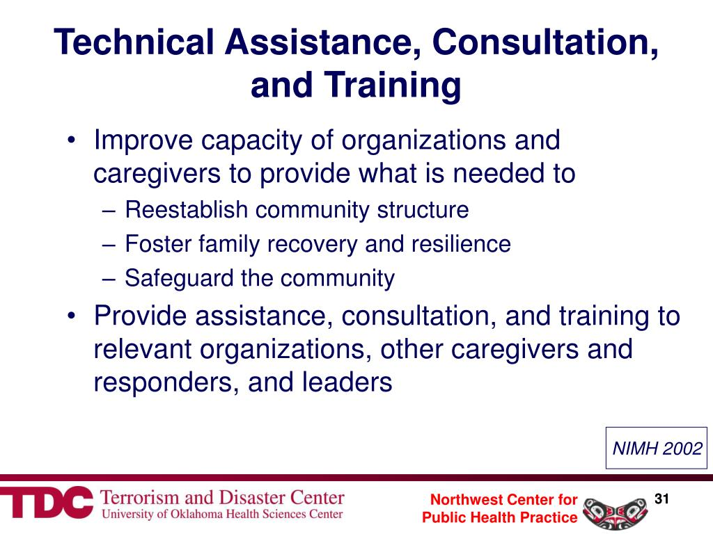 Technical Assistance, Consultation, and Training