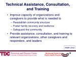 technical assistance consultation and training