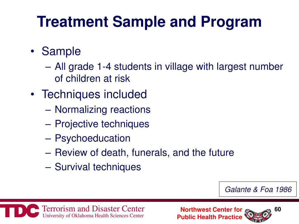 Treatment Sample and Program