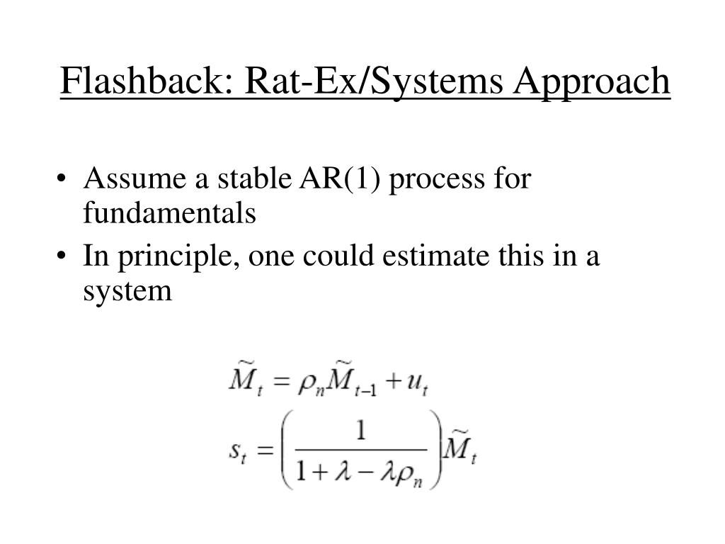 Flashback: Rat-Ex/Systems Approach