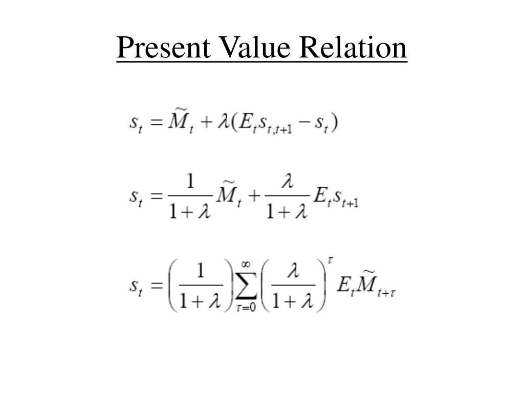 Present Value Relation
