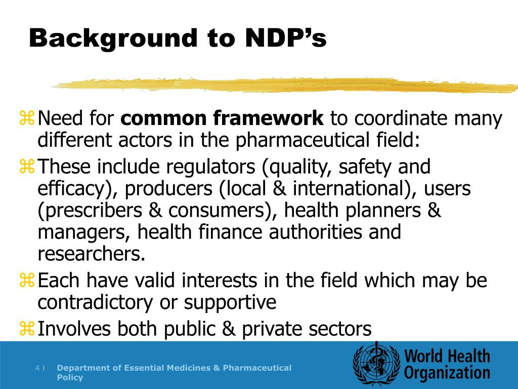 Background to NDP's