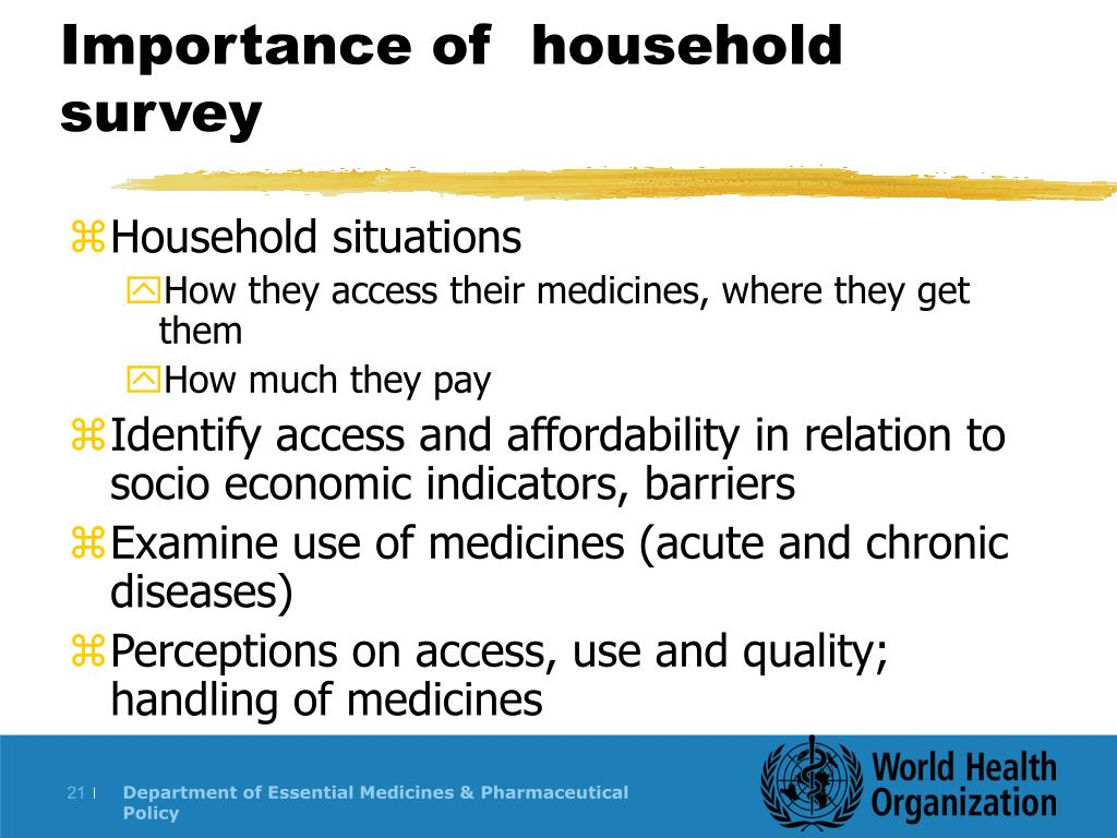 Importance of  household survey