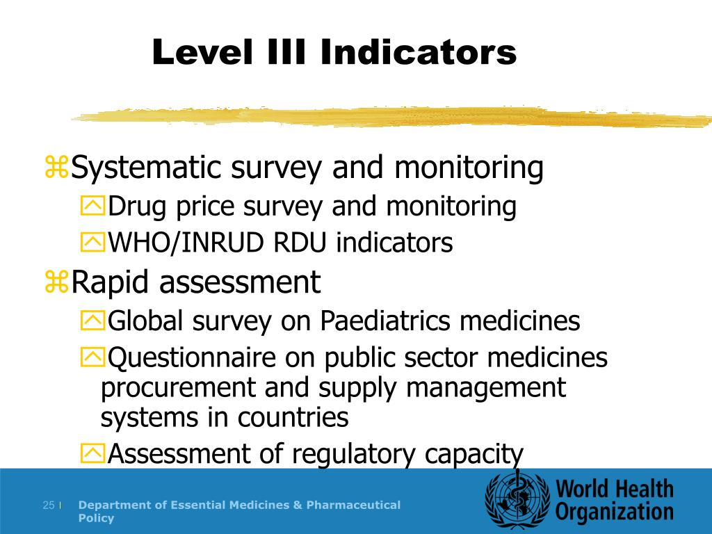 Level III Indicators