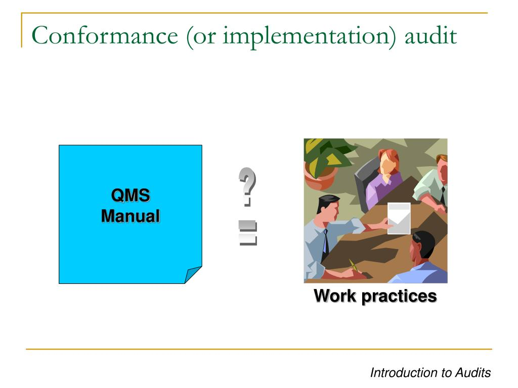 Conformance (or implementation) audit