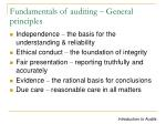 fundamentals of auditing general principles