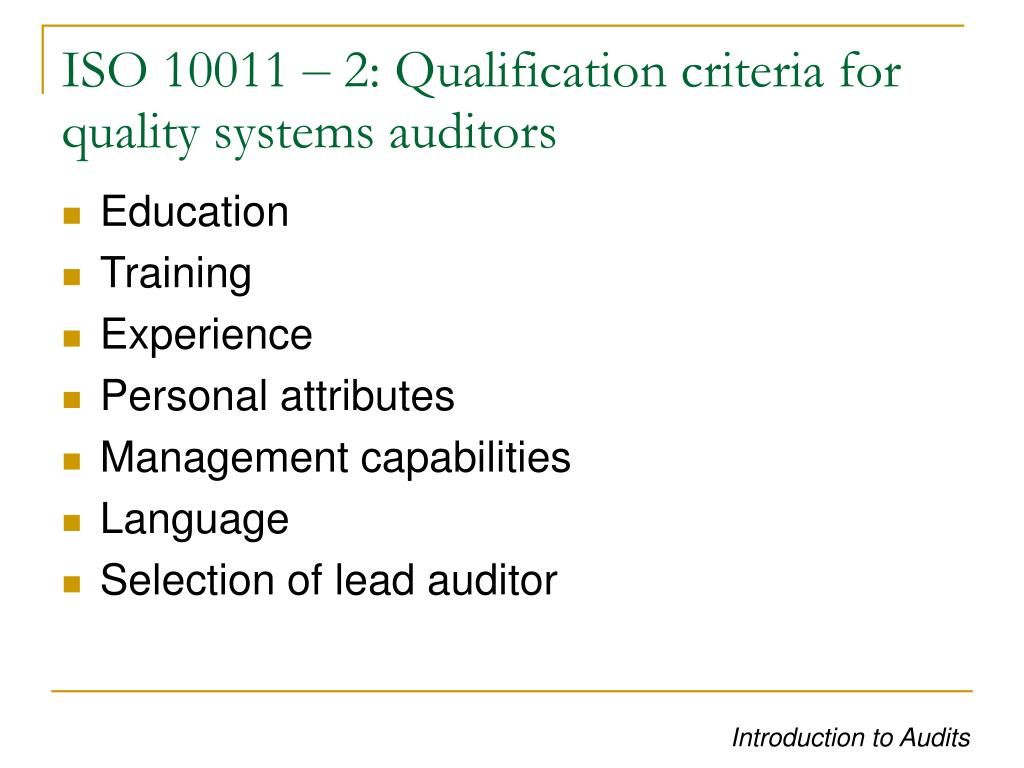 ISO 10011