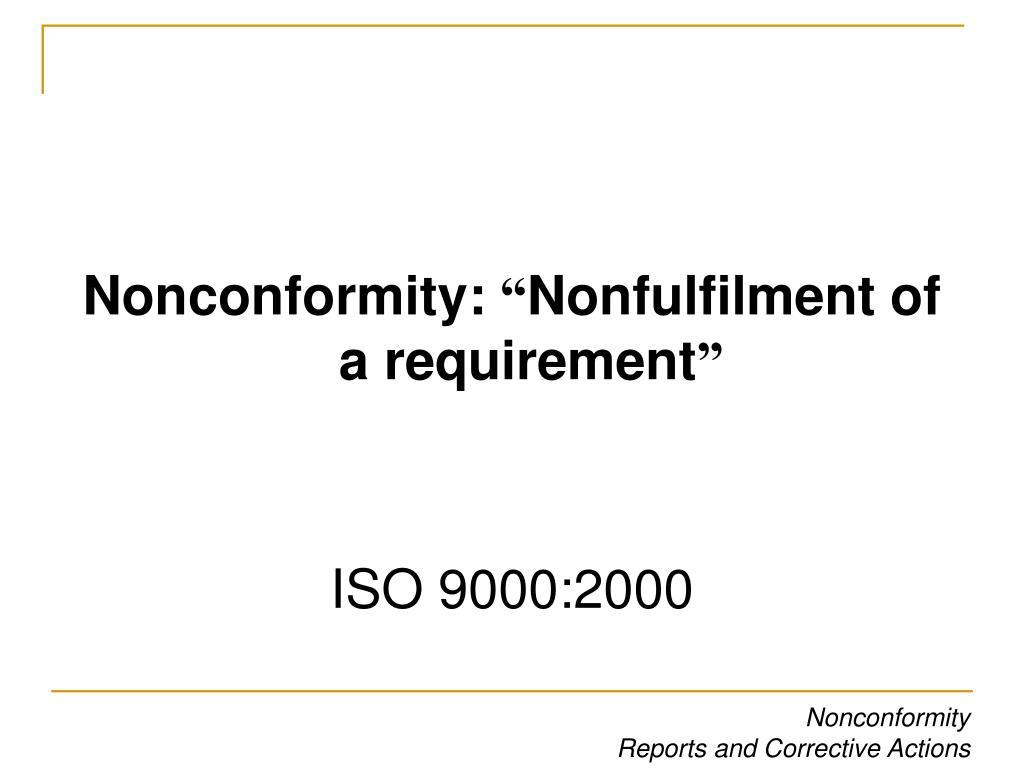 Nonconformity: