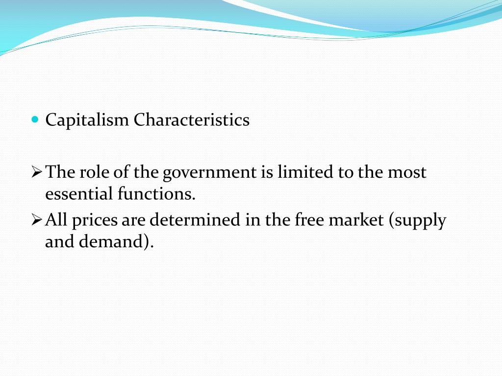 Capitalism Characteristics