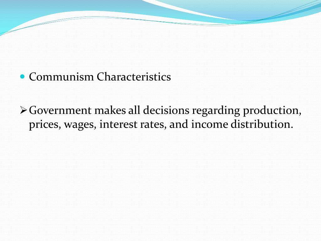 Communism Characteristics