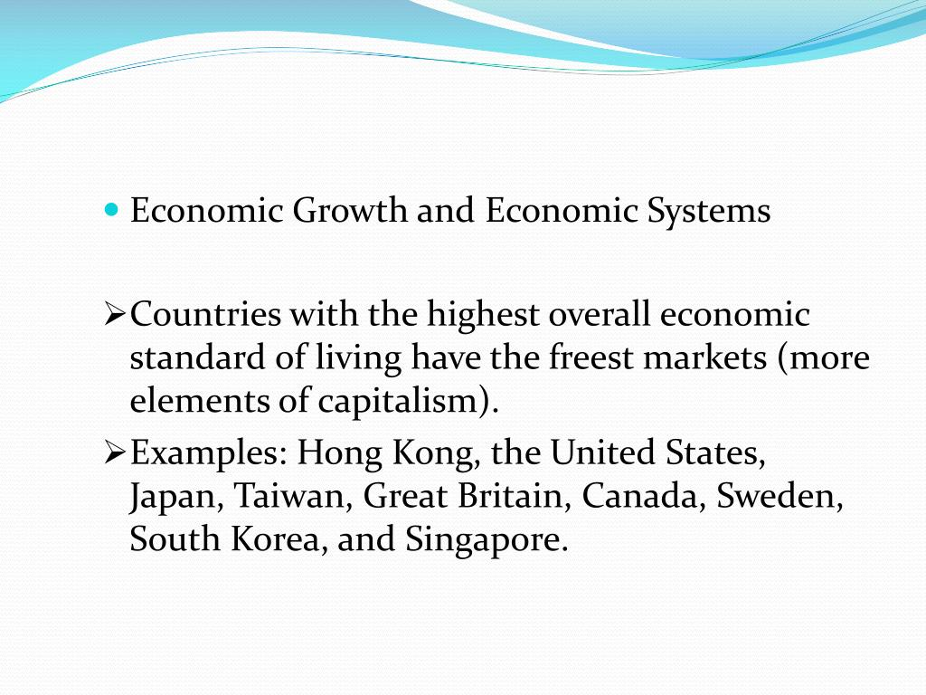 Economic Growth and Economic Systems