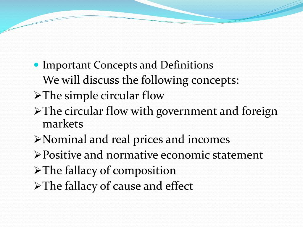 Important Concepts and Definitions