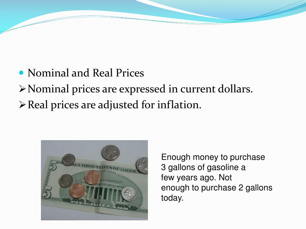 Nominal and Real Prices