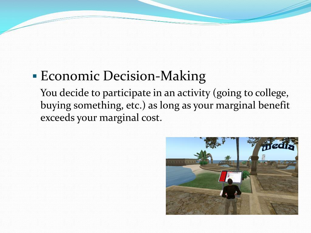 Economic Decision-Making