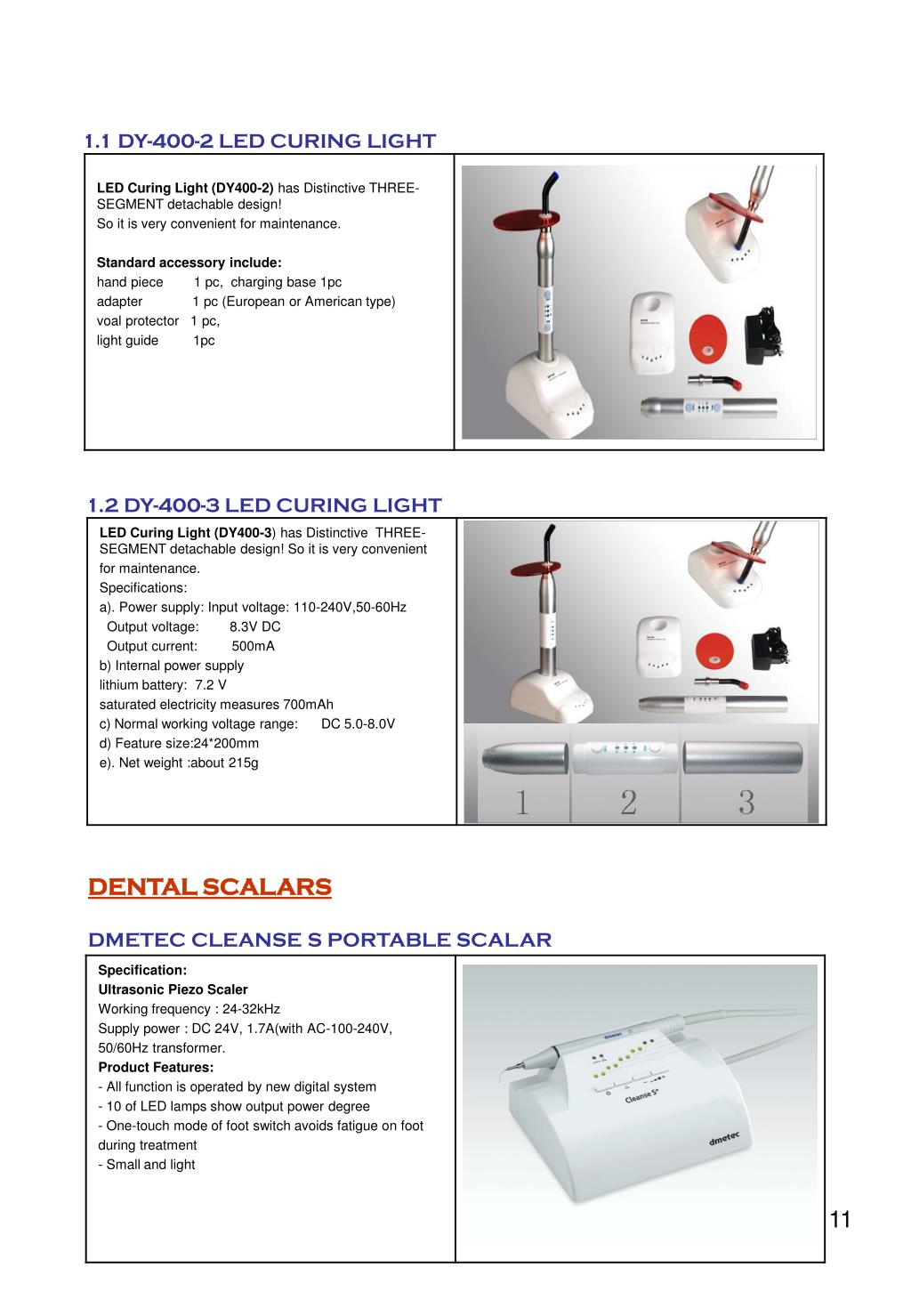 1.1 DY-400-2 LED CURING LIGHT