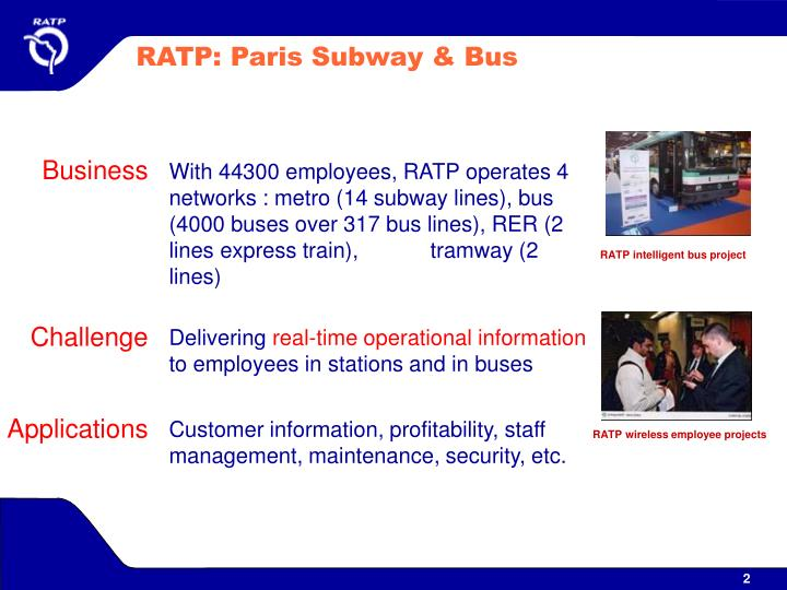 RATP: Paris Subway & Bus