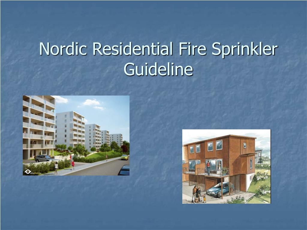 Nordic Residential Fire Sprinkler Guideline