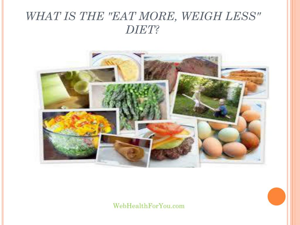 """WHAT IS THE """"EAT MORE, WEIGH LESS"""" DIET?"""