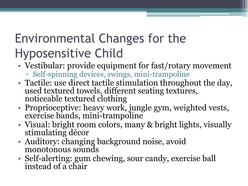 Environmental Changes for the