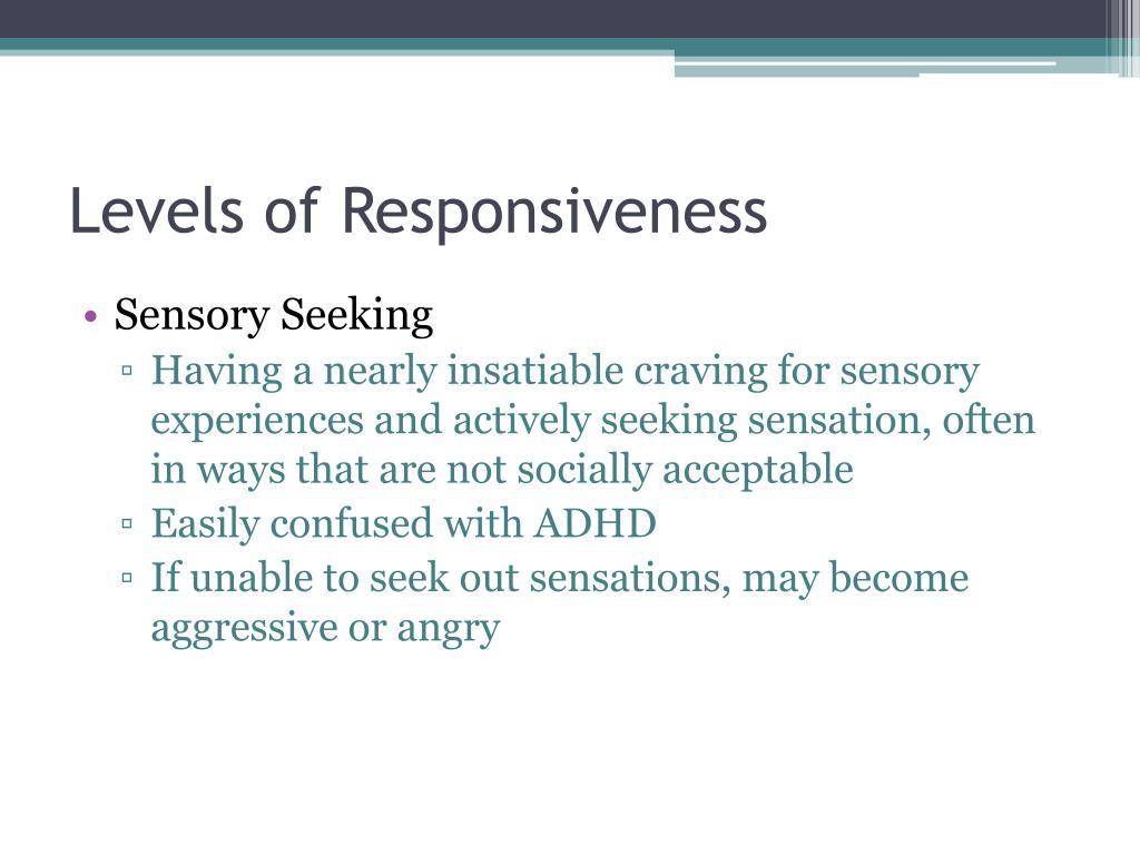 Levels of Responsiveness