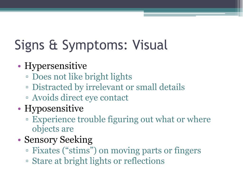 Signs & Symptoms: Visual