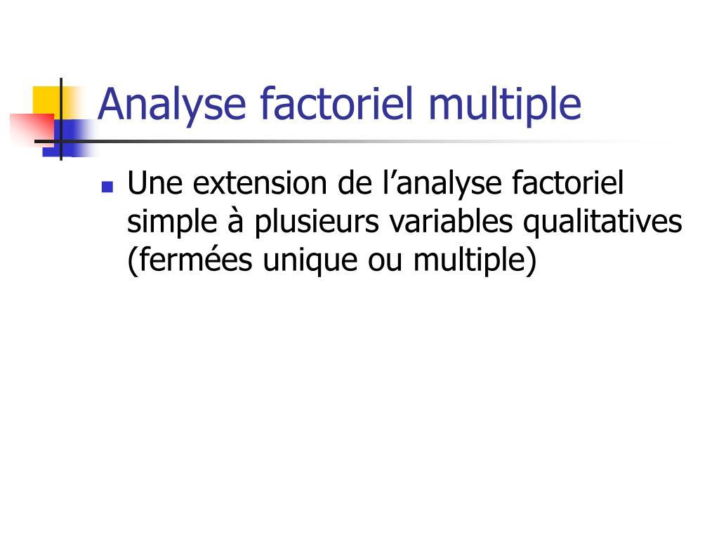 Analyse factoriel multiple