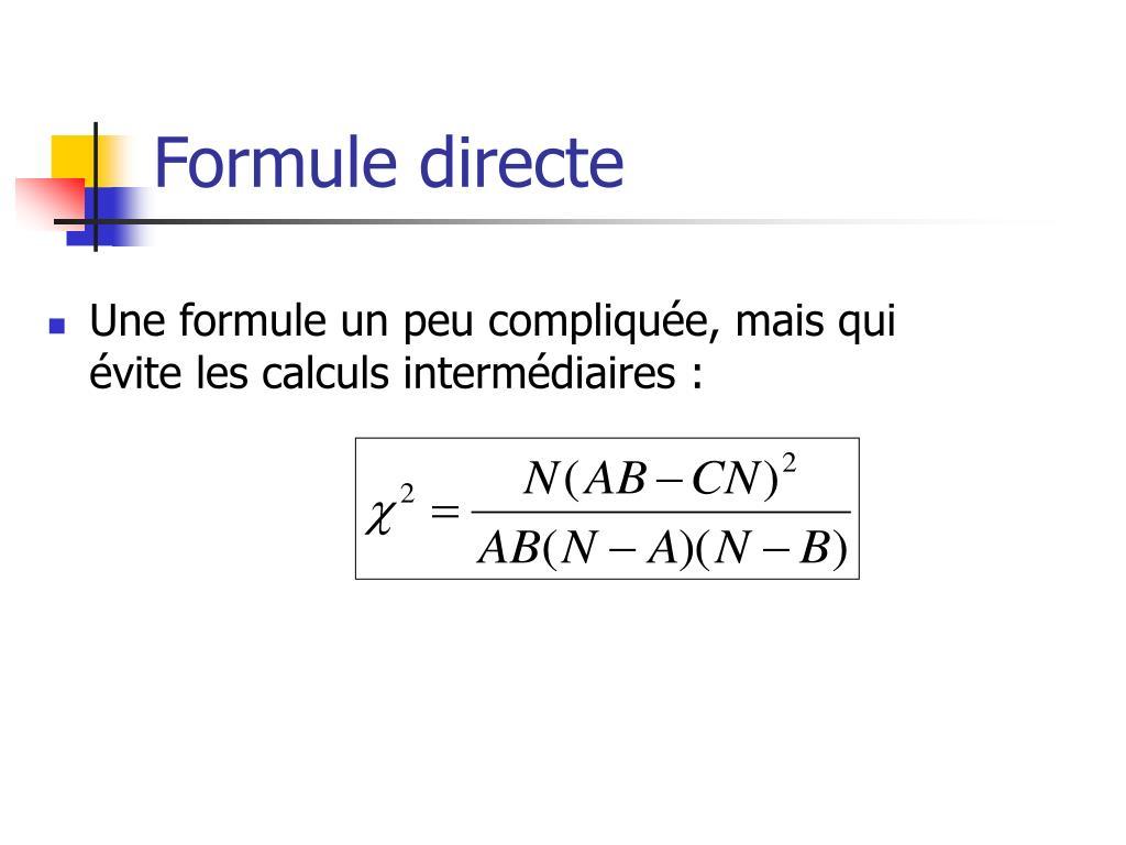 Formule directe