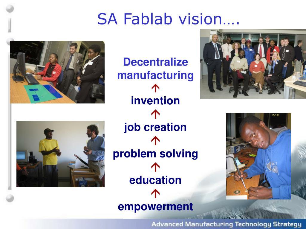 SA Fablab vision….