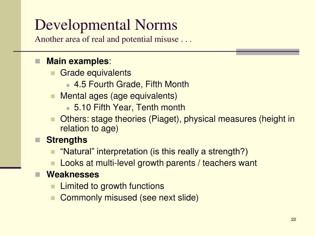 Developmental Norms