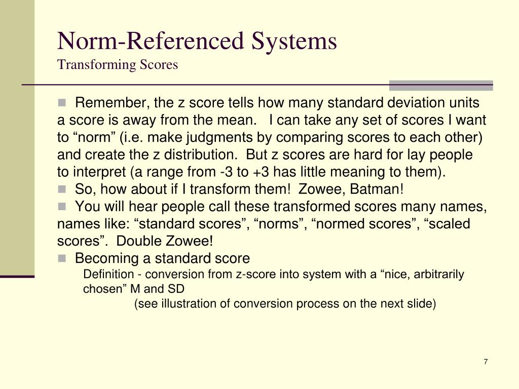 Norm-Referenced Systems