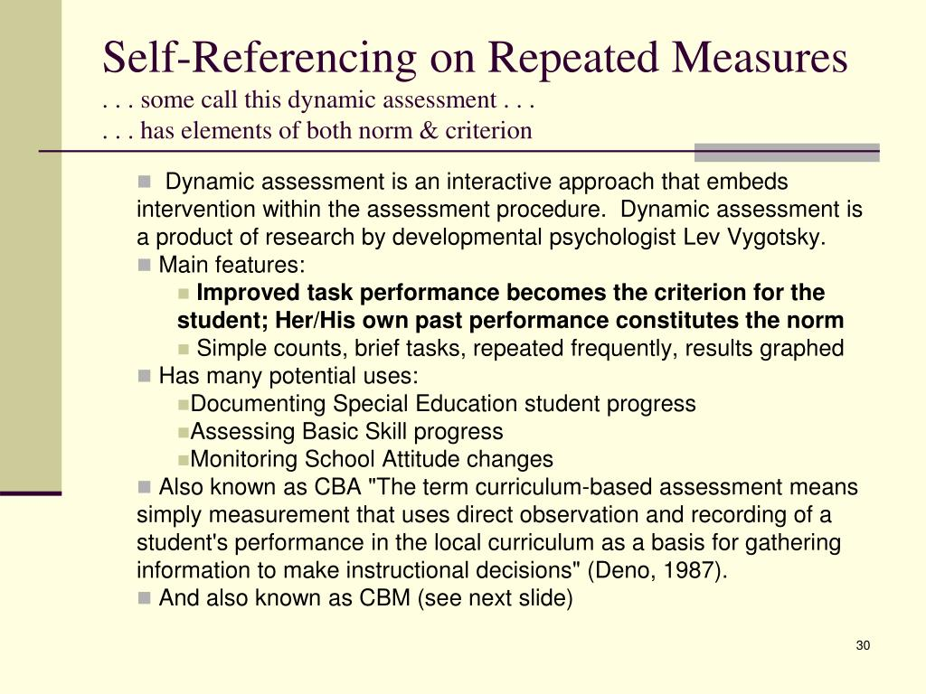 Self-Referencing on Repeated Measures