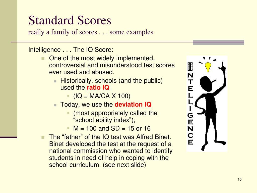 Standard Scores
