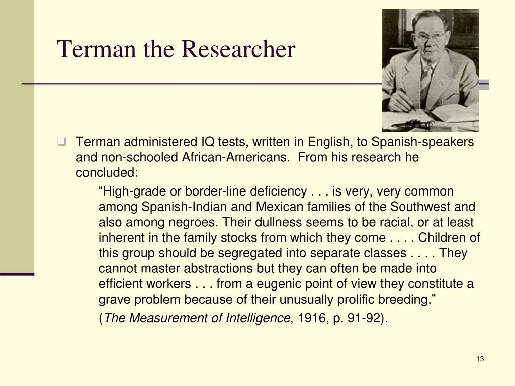 Terman the Researcher