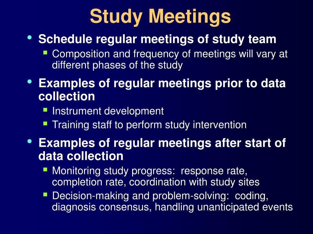 Study Meetings