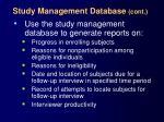 study management database cont29