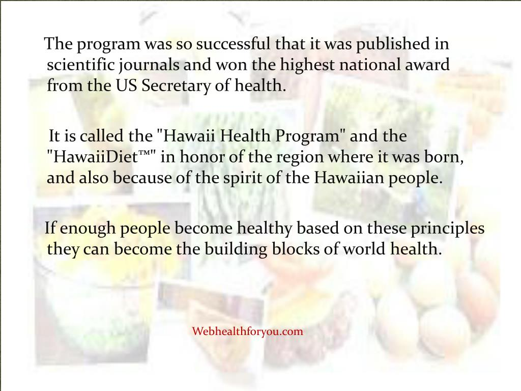 The program was so successful that it was published in scientific journals and won the highest national award from the US Secretary of health.
