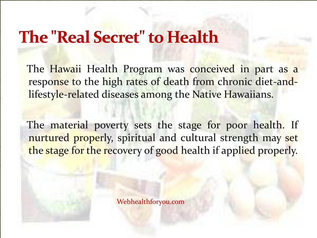 """The """"Real Secret"""" to Health"""