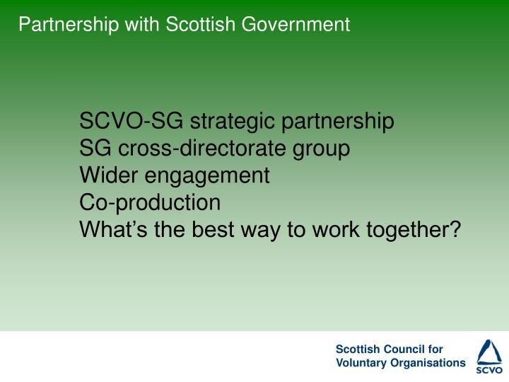 Partnership with Scottish Government