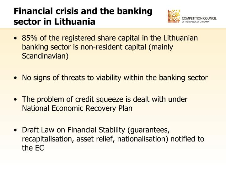 Financial crisis and the banking sector in Lithuania