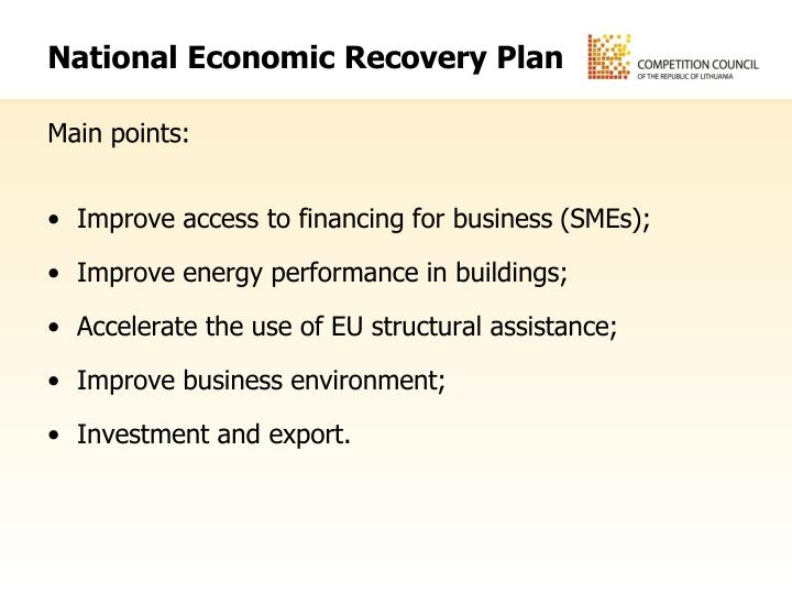 National Economic Recovery Plan