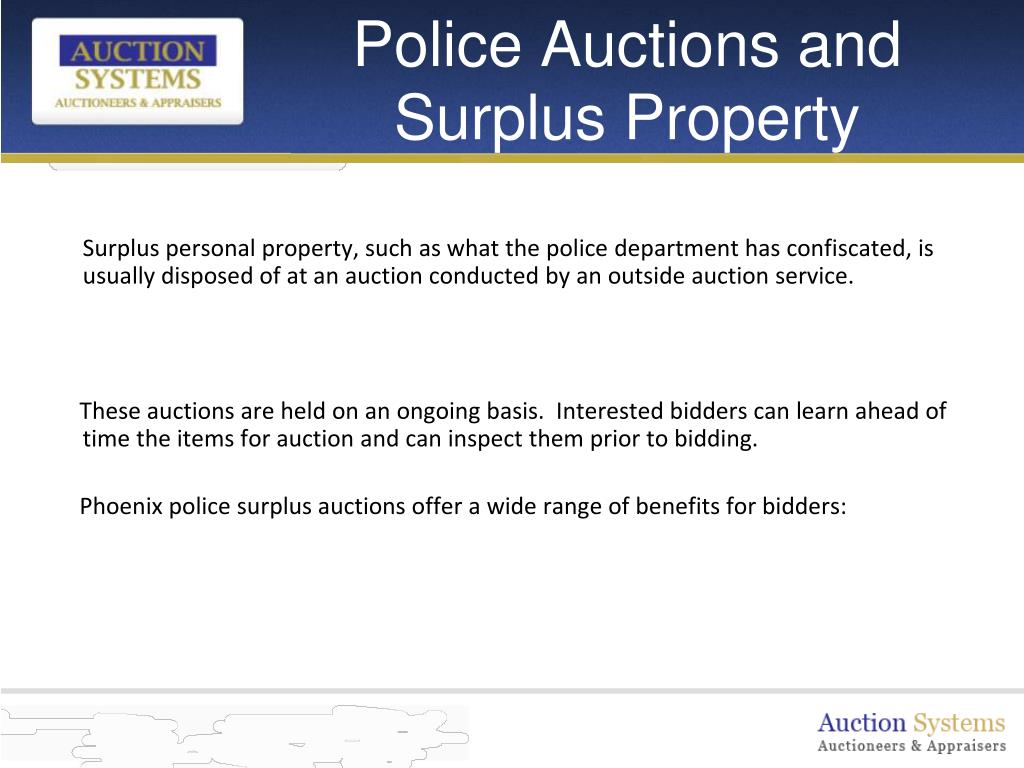 Police Auctions and Surplus Property